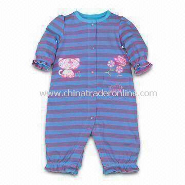 Soft Baby Romper, Made of 100% Cotton, Customized Designs, Fabrics, and Logos are Welcome