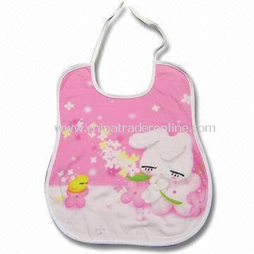 30 x 36cm Baby Bib with 10 Types of Printings, Made of 100% Certified Organic Cotton