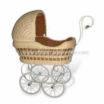 85 x 40 x 91cm Baby Cart, Made of Rattan, Various Carriage and Pram are Available