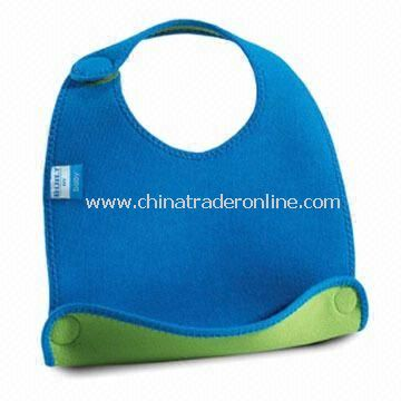 Baby Bib, Customized Designs are Accepted, Made of Neoprene