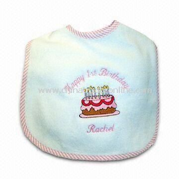 Baby Bib, Customized Styles, Colors, and Sizes are Welcome, Made of Towel Fabric
