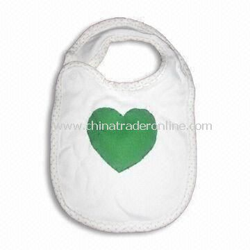 Baby Bib, Made of 100% Cotton, with Double Layers, Available in Various Colors