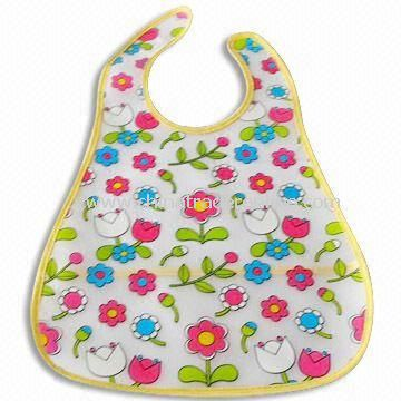 Baby Bib, Made of PU, OEM Orders are Welcome