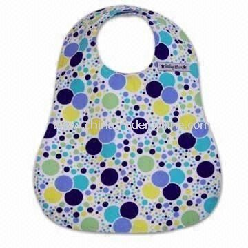 Baby Bib, Made of Waterproof Polyester Material, Available in Various Designs