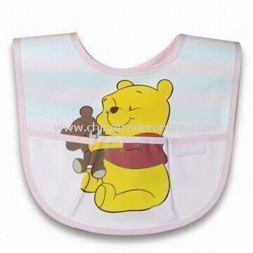 Baby Bib with Cartoon Character Design, Customized Designs are Accepted