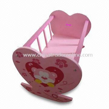 Baby Crib, Made of Solid Wood and MDF, Measures 55.5 x 35 x 35cm