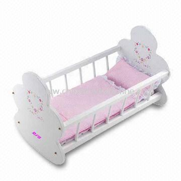 Baby Rocking Cradle/Wooden Crib, Made of Solid Wood or MDF