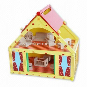 Babys Playhouse, Composed of Some Wooden Doll House Furniture