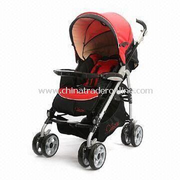 Baby Stroller with Large Storage Basket, Made of Aluminum Frame