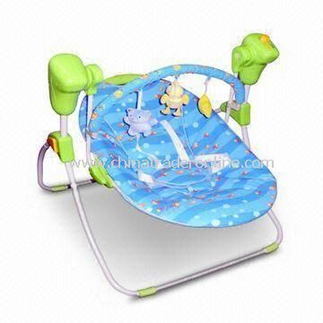 Portable Babies Swing, Easily Folds for Travel and Storage, with Remote Control Function