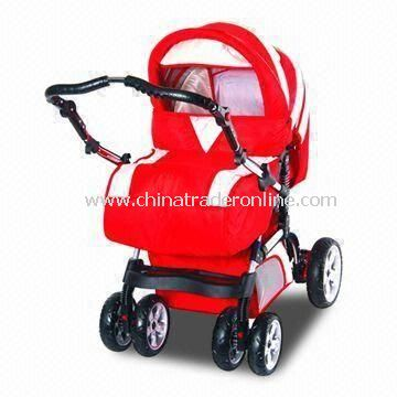 Baby Stroller, Made of 300D Polyester and Super Quality Pipe, Small Order and OEM Order is Accepted
