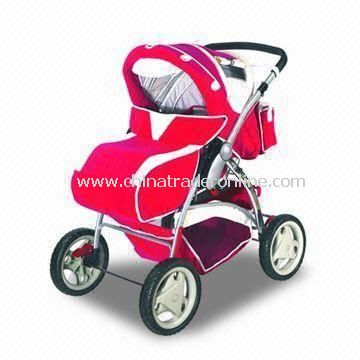 Baby Stroller Made of 300D Polyester and Super Quality Pipe, Small and OEM Order are Accepted