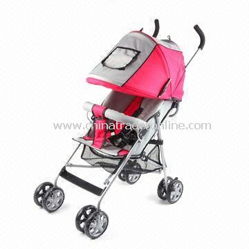Baby Stroller with Adjustable Backrest of Two Positions and 970mm Handle Height