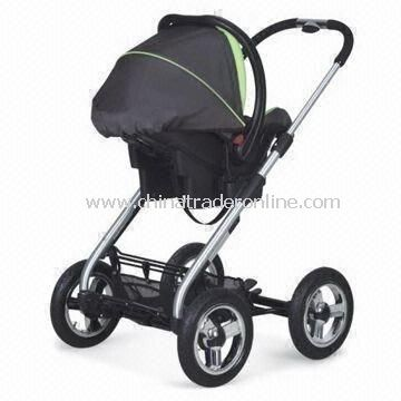 Baby Stroller with Air Wheels, Detachable Front and Rear Wheels