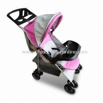 Baby Stroller with European Canopy, Big Basket, Three Point Safety Belt and EN1888 Mark