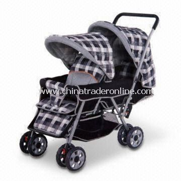Multifunction Stroller in Six Wheels, with Front Wheels Suspension and Pivoting , EN1888 Certified