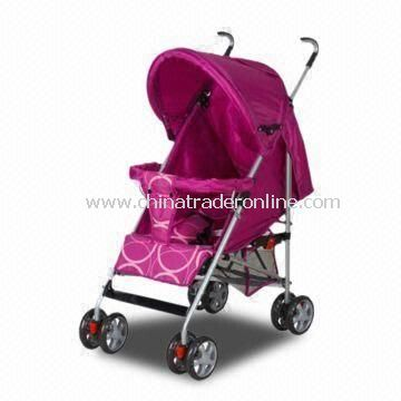 Purple Color Baby Stroller with Umbrella, Made of 600D Polyester/Super Quality Aluminum Pipe