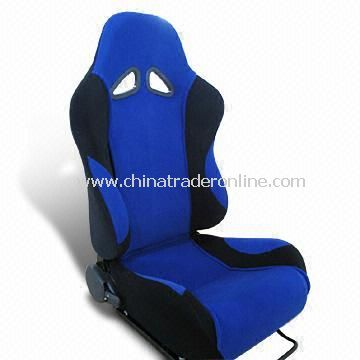 Racing Car Seat Made of PU, Genuine Leather and Cotton
