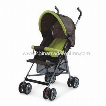 Rotatable Front Wheels Link-brake Baby Stroller, Tube of Aluminum