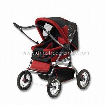 Stroller with Shuttered Canopy and Revesible Handle