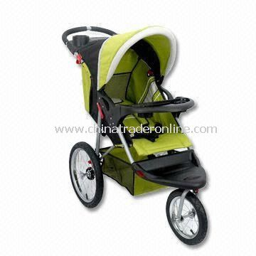 three-wheel Stroller with Steel Frame, Two Hands Folding System More Safety