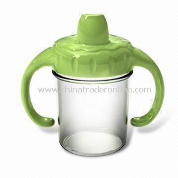Baby Feeding Bottle, Made of BPA-free PP, Available with Two Handles Together, Easy to Grip from China
