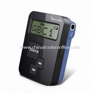 DAB+/FM Radio with 8-hour DAB+ Playtime and 22-hour P/T FM, Measures 48 x 35 x 15mm from China