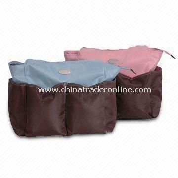 Diaper Bags, Made of Microfiber, with Plenty of Pockets, Ideal for Baby Gifts from China