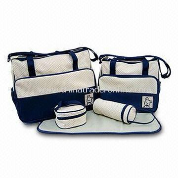 Diaper Bags, Measuring 40 x 15 x 30cm, Made of Microfiber/210T Polyester Lining