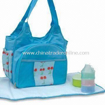 Tote Diaper Bag, Front Compact Compartment Equipped with Dinnerware for Baby