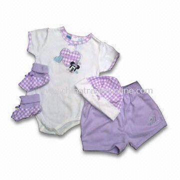 Babies Gift Set Made of 100% Combed Cotton Material, OEM Orders Welcomed
