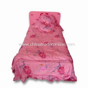 Baby Bedding Set, Composed of MDF Bed and Bed Set, Available in Various Size and Colors