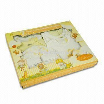 Baby Gift Set, Made of Cotton, Available in Various Colors from China