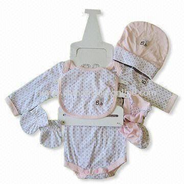 Baby Gift Set, Made of Cotton, Includes Blanket, Gloves, Shoes and Hat, Available in Various Colors