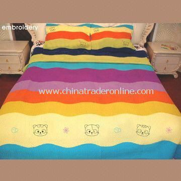 Bedding Set, Includes One Quilt and Two Pieces Pillow Cases, Customized Sizes are Accepted from China