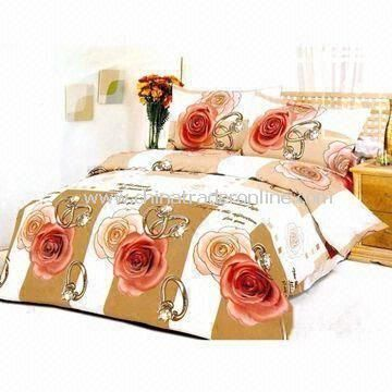 Bedding Set, Includes One Quilt and Two Pieces Pillow Cases, Customized Sizes/Colors Welcomed from China