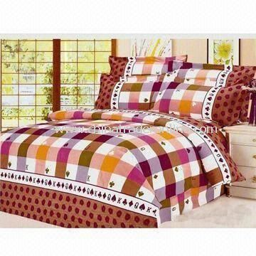 Bedding Set, Includes One Quilt and Two Pieces Pillow Cases, Customized Sizes/Colors Welcomed
