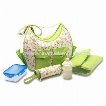 Carry Diaper Bag with Baby Mat, Measures 41 x 13 x 25cm