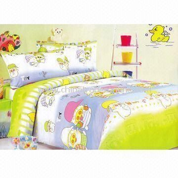 Childrens Bedding Set, Customized Designs and Sizes are Accepted, Made of 100% Cotton