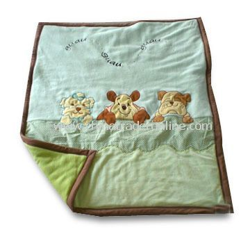 Childrens Bedding with Applique Printing, Tender and Warm