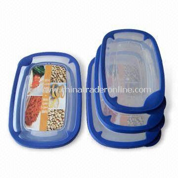 3-piece Food Storage Containers, Various Shapes are Available