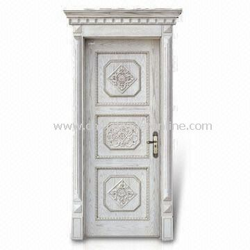 Superb Interior Door With Decorative Wood Line, Window Panel And Computer  Relievo/Engrave Surface From