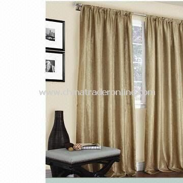 Drapery with Two Window Panels, Made of Polyester, Measures 50 x 96-inch