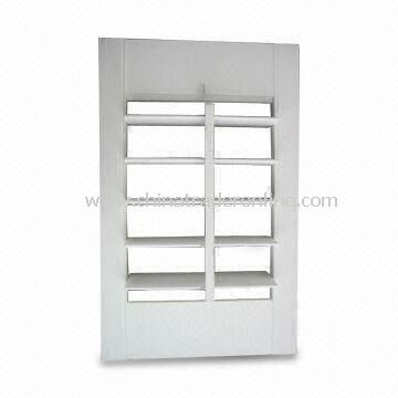 Extruded Vinyl Poly Shutter Panel with 2.5/3.5/4.5-inch Louver Size, Available in Various Sizes