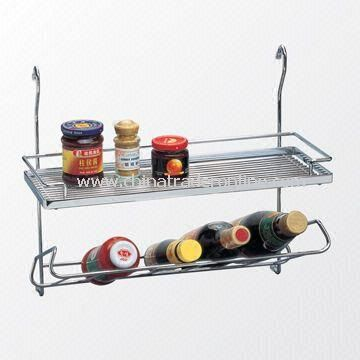 Fitted Double Steel Rack with Chrome Plated, Measuring 455 x 200 x 385mm