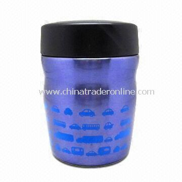 Food Container with 350mL Capacity, Made of Stainless Steel, Customized Colors are Accepted
