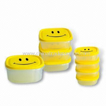 Food Storage Container Set in New Design, Various Sizes and Shapes are Available