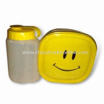 Food Storage Container Set with Water Bottle, Various Size and Shape are Available