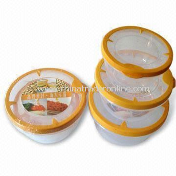 Food Storage Containers in Round Shape Design, Various Sizes are Available