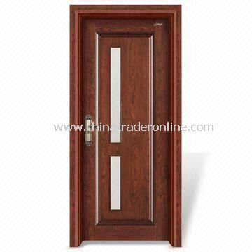 Wooden Interior Door with Window Panel and Computer Relievo/Engrave Surface from China